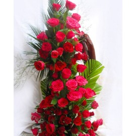 TALL ARRANGEMENTS OF 50 ROSES