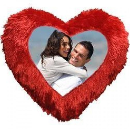 heart shape photo pillow