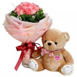PRETTY PINK WITH TEDDY