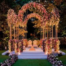 Mandap  Natural Flower Decoration